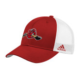 Adidas Red Structured Adjustable Hat-Hammy w/ Hockey Stick