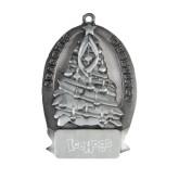 Pewter Tree Ornament-IceHogs Wordmark Engraved