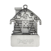 Pewter House Ornament-IceHogs Wordmark Engraved