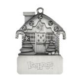 Pewter House Ornament-IceHogs Wordmark Engraved