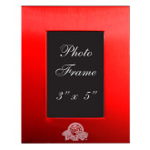 Red Brushed Aluminum 3 x 5 Photo Frame-Primary Mark Engraved