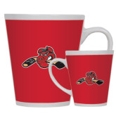 Full Color Latte Mug 12oz-Hammy w/ Hockey Stick