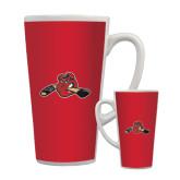 Full Color Latte Mug 17oz-Hammy w/ Hockey Stick