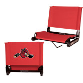 Stadium Chair Red-Hammy w/ Hockey Stick