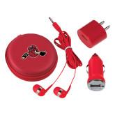 3 in 1 Red Audio Travel Kit-Hammy w/ Hockey Stick