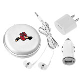 3 in 1 White Audio Travel Kit-Hammy w/ Hockey Stick