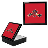 Ebony Black Accessory Box With 6 x 6 Tile-Hammy w/ Hockey Stick