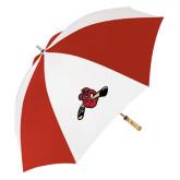 62 Inch Red/White Umbrella-Hammy w/ Hockey Stick