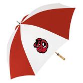 62 Inch Red/White Umbrella-Hammy Head