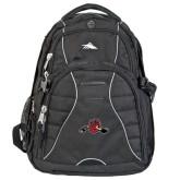 High Sierra Swerve Black Compu Backpack-Hammy w/ Hockey Stick
