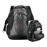 Wenger Swiss Army Tech Charcoal Compu Backpack-Hammy w/ Hockey Stick