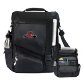 Momentum Black Computer Messenger Bag-Hammy w/ Hockey Stick