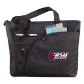 Excel Black Sport Utility Tote-Stacked Combination Logo