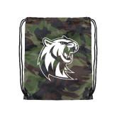 Nylon Camo Drawstring Backpack-Official Logo