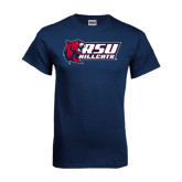 Navy T Shirt-Stacked Combination Logo