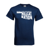 Navy T Shirt-Hillcat Nation