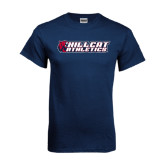Navy T Shirt-Hillcat Athletics