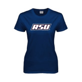 Ladies Navy T Shirt-RSU