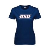 Ladies Navy T Shirt-RSU