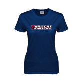 Ladies Navy T Shirt-Hillcat Athletics