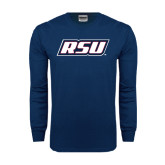 Navy Long Sleeve T Shirt-RSU
