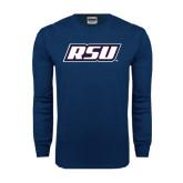 Navy Long Sleeve T Shirt-RSU
