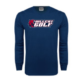 Navy Long Sleeve T Shirt-Golf