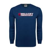 Navy Long Sleeve T Shirt-Track & Field