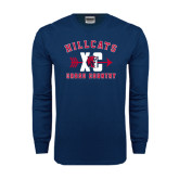 Navy Long Sleeve T Shirt-Cross Country XC
