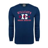 Navy Long Sleeve T Shirt-Cross Country XC