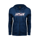 ENZA Ladies Navy Fleece Full Zip Hoodie-RSU