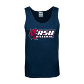 Navy Tank Top-Stacked Combination Logo
