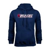 Navy Fleece Hoodie-Hillcat Athletics