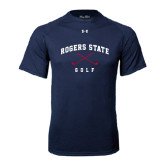 Under Armour Navy Tech Tee-Golf Crossed Clubs