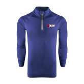 Under Armour Navy Tech 1/4 Zip Performance Shirt-Stacked Combination Logo