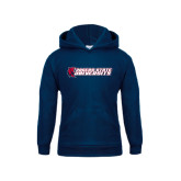 Youth Navy Fleece Hood-University Logo