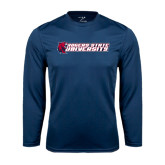 Performance Navy Longsleeve Shirt-University Logo