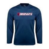 Syntrel Performance Navy Longsleeve Shirt-University Logo