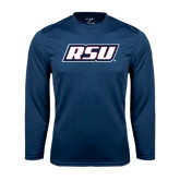Performance Navy Longsleeve Shirt-RSU