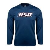 Syntrel Performance Navy Longsleeve Shirt-RSU