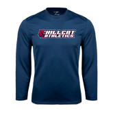 Performance Navy Longsleeve Shirt-Hillcat Athletics