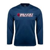 Syntrel Performance Navy Longsleeve Shirt-Hillcat Athletics