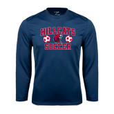 Performance Navy Longsleeve Shirt-Hillcats Soccer Stacked