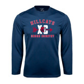 Performance Navy Longsleeve Shirt-Cross Country XC