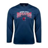 Syntrel Performance Navy Longsleeve Shirt-Baseball Crossed Bats