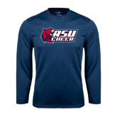 Performance Navy Longsleeve Shirt-Cheerleading