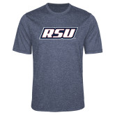 Performance Navy Heather Contender Tee-RSU