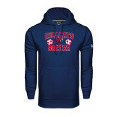 Under Armour Navy Performance Sweats Team Hoodie-Hillcats Soccer Stacked