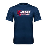 Performance Navy Tee-Stacked Combination Logo