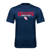 Performance Navy Tee-Hillcats Track & Field Stacked